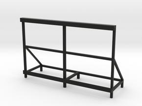 Slot Car Track Banner Holder 100x60 - 1/24 in Black Natural Versatile Plastic