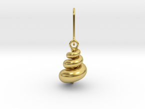 Earrings | Mystery of the univers in Polished Brass (Interlocking Parts)