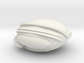SpaceHelmetv3b in White Natural Versatile Plastic