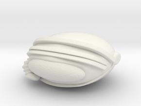 SpaceHelmetv3c in White Natural Versatile Plastic