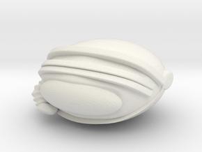 SpaceHelmetv3j in White Natural Versatile Plastic