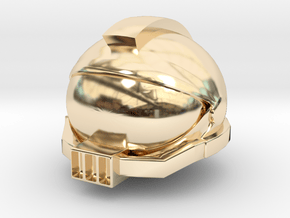 SpaceHelmetv3l1A3 in 14k Gold Plated Brass