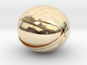 SpaceHelmetv3l1A1 in 14k Gold Plated Brass