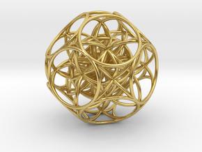 Mind internal radiation centre universe in Polished Brass