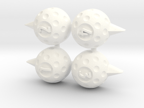 ASG Golf Markers (4 pcs) in White Processed Versatile Plastic