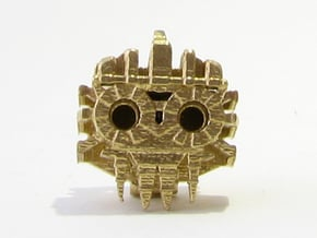 Aztec Bead Tlaloc FA in Natural Brass