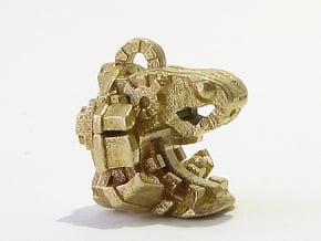 Aztec Bead Quetzalcoatl FA in Natural Brass