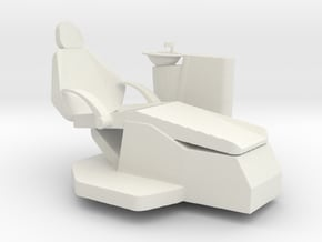 Printle Thing Dentist Chair - 1/24 in White Natural Versatile Plastic