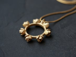 Magnolia Pendant in Polished Gold Steel