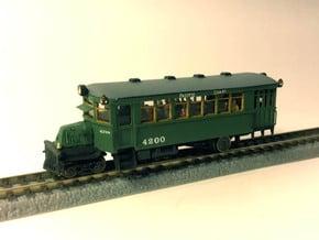 1922 Mack AC Railbus - N / Nn3 in Smooth Fine Detail Plastic