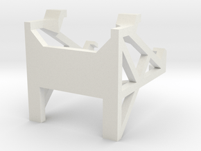 Cell Phone Desk stand in White Natural Versatile Plastic