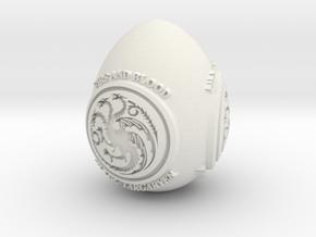 GOT House Targaryen Easter Egg in White Natural Versatile Plastic