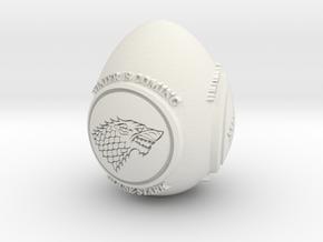 GOT House Stark Easter Egg in White Natural Versatile Plastic