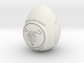 GOT House Greyjoy Easter Egg in White Natural Versatile Plastic