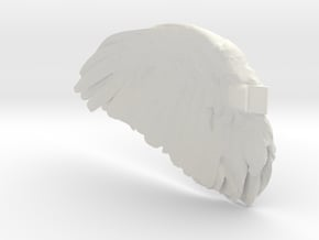 Wing_Right_Large_test in White Natural Versatile Plastic