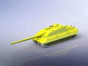 Jagdpanzer E-100 Tank Destroyer 1/144  in White Natural Versatile Plastic