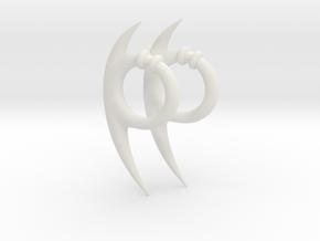 Orochimaru's earrings in White Natural Versatile Plastic: Large