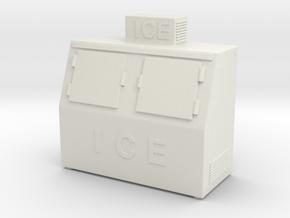 Ice Machine Ver01. 1:48 Scale (O) in White Natural Versatile Plastic