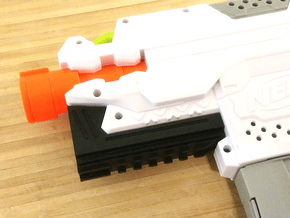Blasterdizer Bottom Picatinny Rail for Stryfe in White Natural Versatile Plastic