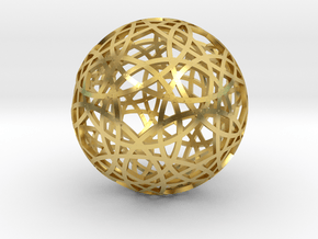 30 circle sphere in Polished Brass