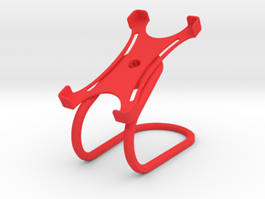 Rotary support for smartphones (example) in Red Processed Versatile Plastic