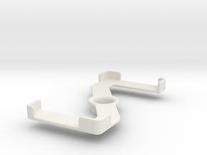 Platform (142 x 71 mm) in White Natural Versatile Plastic
