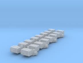 6mm Missile Turrets (8) in Smooth Fine Detail Plastic