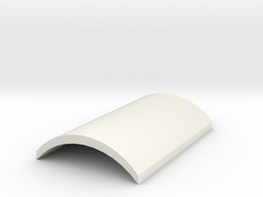 Anti-Jamming Plate for Nerf Magazine in White Natural Versatile Plastic
