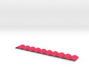 Anti-Jamming Plate (10 Pieces) for Nerf Magazines in Pink Processed Versatile Plastic