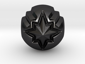 Captain Marvel Pandora Charm in Polished and Bronzed Black Steel