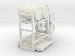 Drum storage rack - 1:50 in White Natural Versatile Plastic