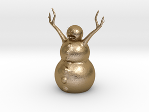 Snow Man in Polished Gold Steel
