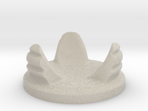 Hourglass base in Natural Sandstone