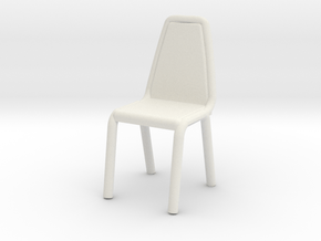 1:24 Vinyl Stacking Chair in White Natural Versatile Plastic: 1:48 - O