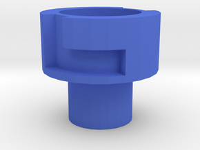 Nerf Muzzle to Airsoft Barrel Adapter (14mm Self-C in Blue Processed Versatile Plastic