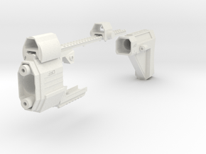 Laser Pulse Carbine Kit for Nerf Stryfe in White Natural Versatile Plastic