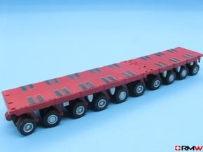 HO/1:87 spmt set 4+6 axles with 1 ppu in Smooth Fine Detail Plastic