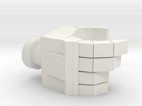 Deluxe Scale Right Hand (Mushroom Peg) in White Premium Versatile Plastic