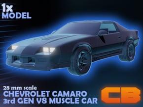 CB Chevrolet Camaro 28mm in Smoothest Fine Detail Plastic