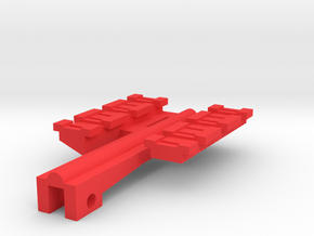Dual Top Rails for Nerf Zombie Strike NailBiter in Red Processed Versatile Plastic