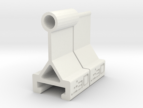 Raised Iron Sights for Nerf Rival Rail in White Natural Versatile Plastic