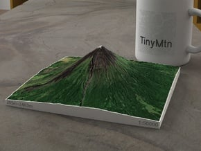 Mayon Volcano, Philippines, 1:50000 Explorer in Natural Full Color Sandstone