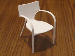 "Strada Chair 3.7"" tall in White Natural Versatile Plastic"