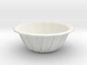 [1DAY_1CAD] BOWL in White Premium Versatile Plastic