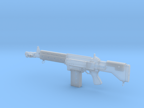 Scifi Rifle in Smooth Fine Detail Plastic: Small
