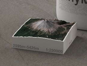 Popocatépetl, Mexico, 1:250000, Explorer in Natural Full Color Sandstone