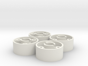 ass 4 jantes avant D19 flans plat +0,5 shapeways in White Natural Versatile Plastic