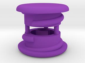Thumbwheel Caps x 2 (PART CPGIZ22) in Purple Processed Versatile Plastic