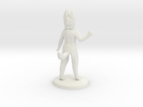 Anthro Wave With Base in White Natural Versatile Plastic
