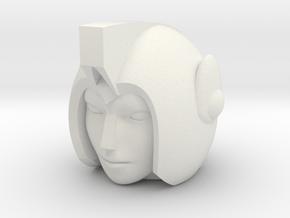 Greenlight Head for POTP Moonracer in White Natural Versatile Plastic
